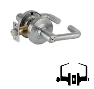 Entry//Office Function Push-Button Locking Tubular Lever Design Satin Chrome Finish Schlage Commercial ND50RDTLR626 ND Series Grade 1 Cylindrical Lock