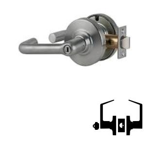 Satin Chrome Finish Storeroom Function Tubular Lever Design Schlage commercial ND80PDTLR626 ND Series Grade 1 Cylindrical Lock