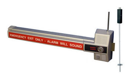 Detex ECL-230X-TD Alarmed Dead Bolt Panic Device - Two-Point Locking
