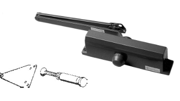 S.Parker PA952 Medium Duty Door Closer - Tri Pack
