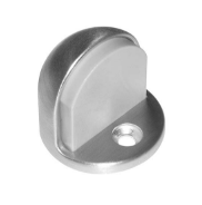Satin Clear Coated Finish #12 X 1-1//4 FH WS Fastener with Plastic Anchor and 12-24 x 1 FH MS Fastener with Lead Anchor 1-7//8 Base Diameter x 7//32 Base Length Rockwood 441H.4 Brass Floor Mount Cast Universal Dome Stop