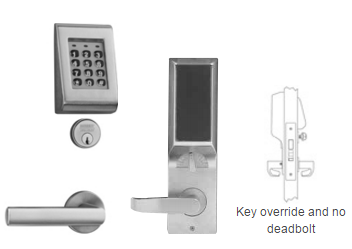 Sargent KP8278 Keypad Stand Alone Mortise Lock, With Cylinder override and No deadbolt